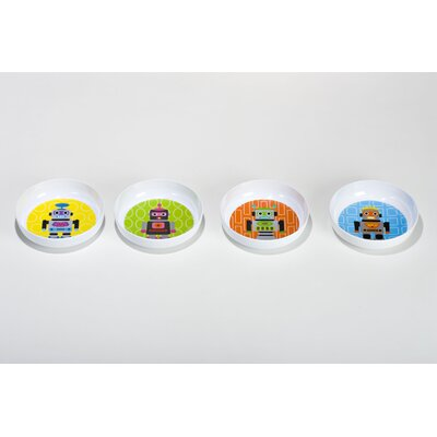 French Bull Robot Kids Bowls (Set of 4)