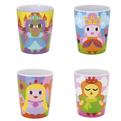 French Bull Princess Kids Juice Cups (Set of 4)