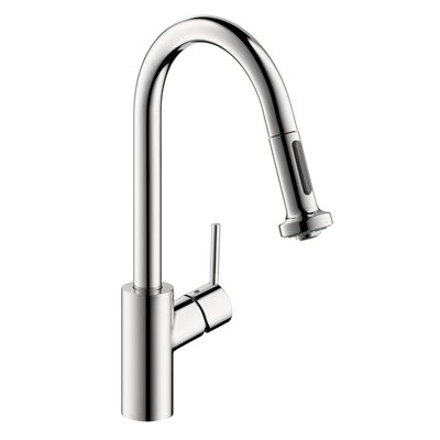 Hansgrohe Talis S 2 Prep One Handle Single Hole Kitchen Faucet with 2 Spray Pull ...