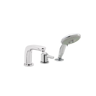 Swing C Single Handle Deck Mounted Roman Tub Faucet Trim