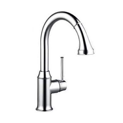 Talis C High Arc One Handle Single Hole Kitchen Faucet with Pull Down 2 Spray ...