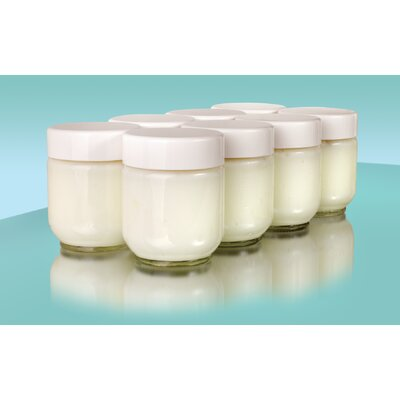 Euro Cuisine Yogurt Glass Jars (Set of 8)