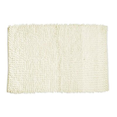 Loop Twist Bath Mat in White 1'8