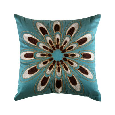 Passiflora Cushion in Teal