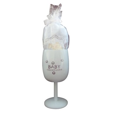 Baby Champagne Keepsake Stainless Steel Goblet and Bodysuit