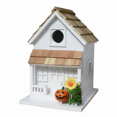 "Home Bazaar Fledgling Series Large ""Season's Tweetings""  Birdhouse"