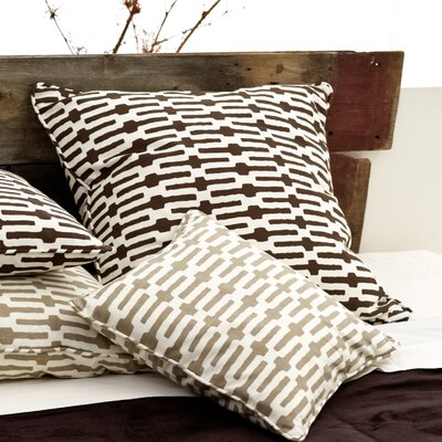 "Pine Cone Hill Neutral Territory Links 26"" Decorative Pillow in Tobacco"