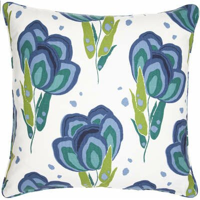 Pine Cone Hill Graphic Traffic Happy Poppies Decorative Pillow