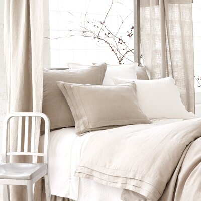 Pine Cone Hill Natural Pleated Linen Duvet Cover Collection