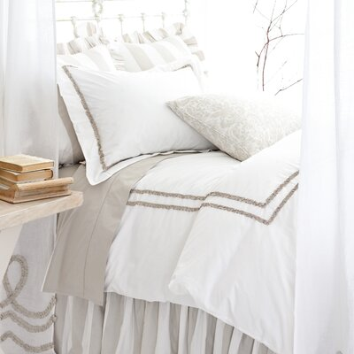 Pine Cone Hill Ruched Platinum Duvet Cover Collection