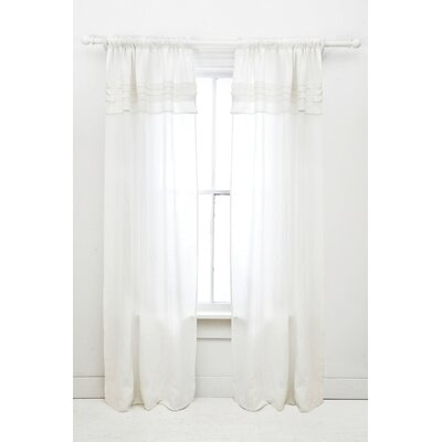 Pine Cone Hill Pleated Linen Window Panel in White
