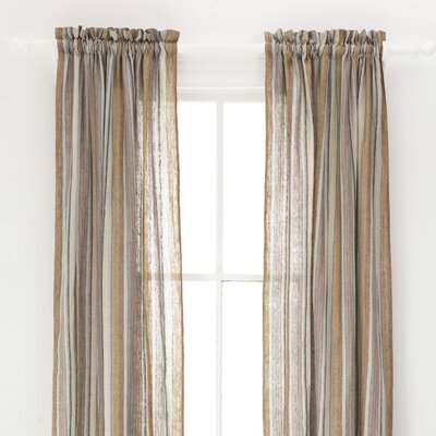 Pine Cone Hill Treehouse Linen Rod Pocket Curtain Single Panel
