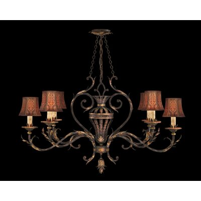 Fine Art Lamps Brighton Pavillion Six Light Chandelier in Bronzed Sienna