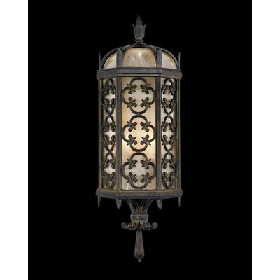Fine Art Lamps Costa Del Sol Two Light Outdoor Wall Lantern in Marbella Wrought Iron