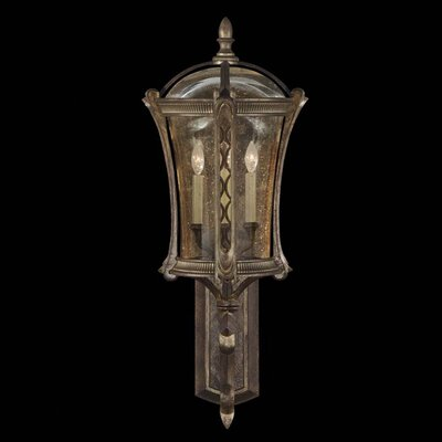 Fine Art Lamps Gramercy Park Four Light Outdoor Wall Lantern in Aged Antique Gold
