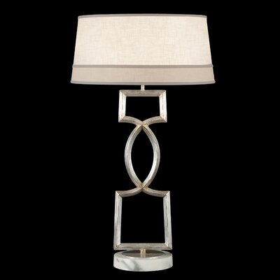 "Fine Art Lamps Allegretto Silver 34"" 1 Light Table Lamp"