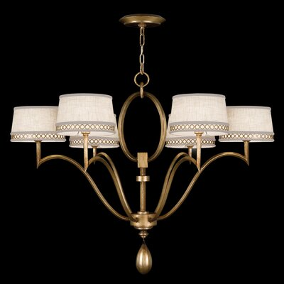 Fine Art Lamps Allegretto Gold 6 Light Chandelier