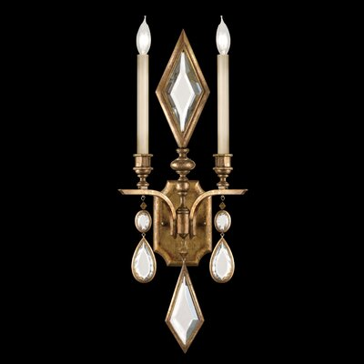 Fine Art Lamps Encased Gems 2 Light Wall Sconce