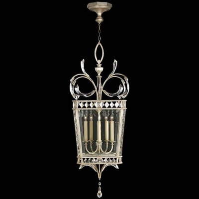 Beveled Arcs 5 Light Foyer Pendant