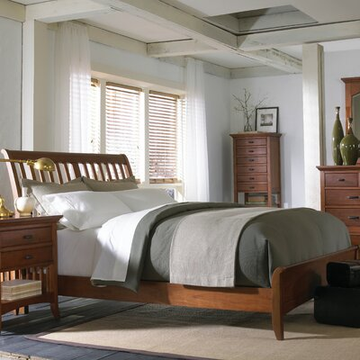 Cresent Furniture Modern Shaker Sleigh Bedroom Collection