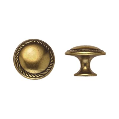 "Bosetti-Marella Louis XVI 0.98"" Round Knob in Light Antique Brass"