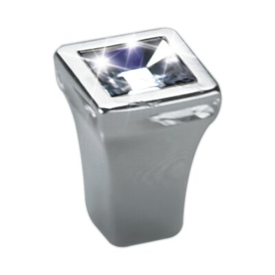 "Bosetti-Marella Swarovski Clear Crystal 0.5"" Knob in Polished Nickel"