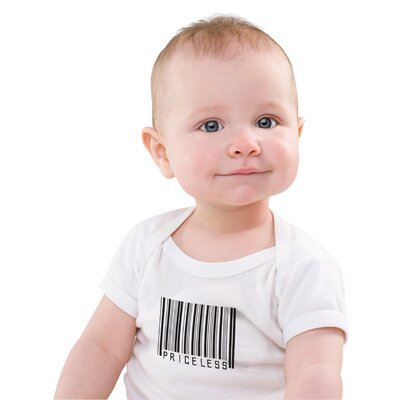 Redsnapper Priceless Baby Bodysuit in White