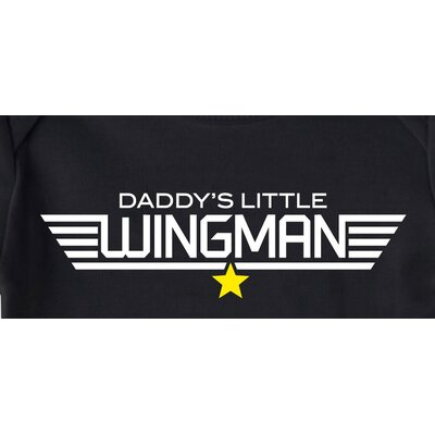 Redsnapper Daddys Little Wingman Black Bodysuit