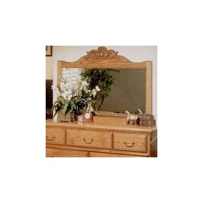 Bebe Furniture Country Heirloom Crowned Top Dresser Mirror