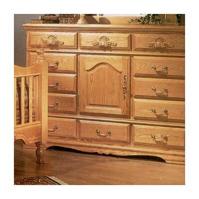 Country Heirloom 12 Drawer Oversized Combo Dresser