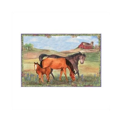 "Enchantmints Horse Ranch 6"" High Treasure Box"