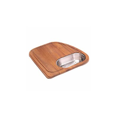 Franke Vision Wood Cutting Board with Stainless Steel Colander in Teak
