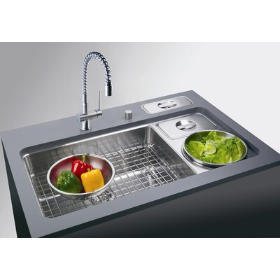 Franke Culinary Work Center Kitchen Sink with Waste Bin