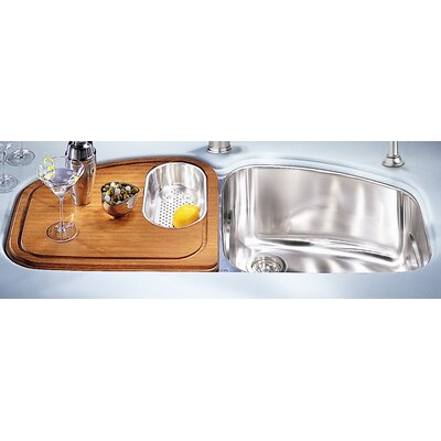 "Franke Vision 45"" Stainless Steel Double Bowl Kitchen Sink"