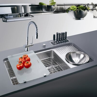 Undermount Kitchen Sink With Drainboard : ... kitchen sink with drain board features work center kitchen sink with