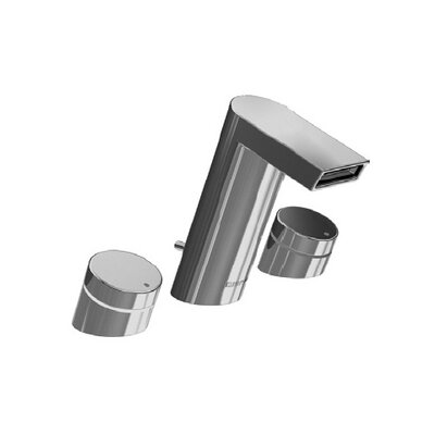 Hansa Hansastela Widespread Bathroom Faucet with Push Handle