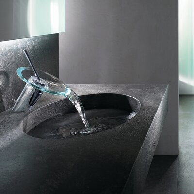 Hansamurano Single Hole Waterfall Bathroom Faucet with Single Handle - 5606 3201 7817