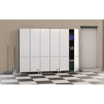 Storage 3-Piece 9' Tall Storage System in Starfire Pearl