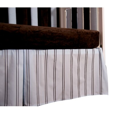 Go Mama Go Baby Basics Striped Box Pleat Crib Skirt