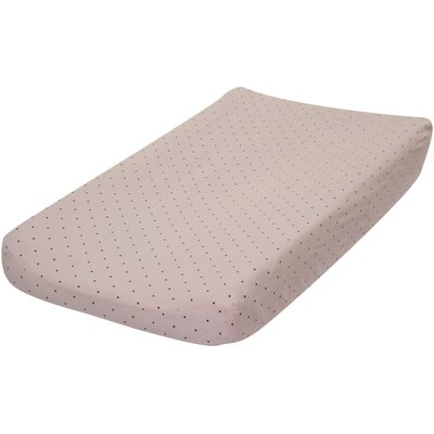 Go Mama Go Pink with Chocolate Dots Changing Pad Cover