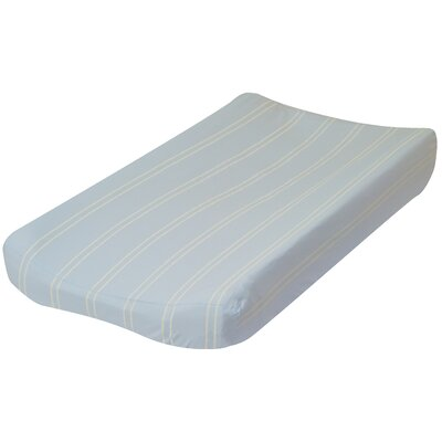 Go Mama Go Blue with Cream Stripes Changing Pad Cover