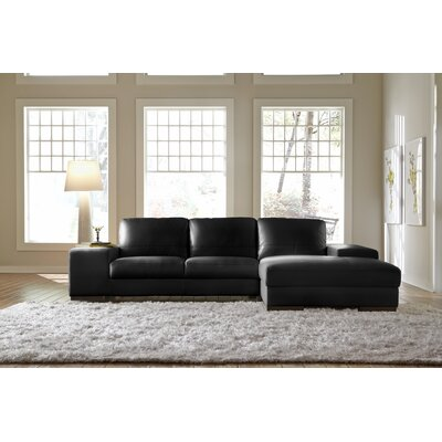 Modern sleeper sectionals wayfair for Wildon home bailey microfiber sectional sofa with chaise on left