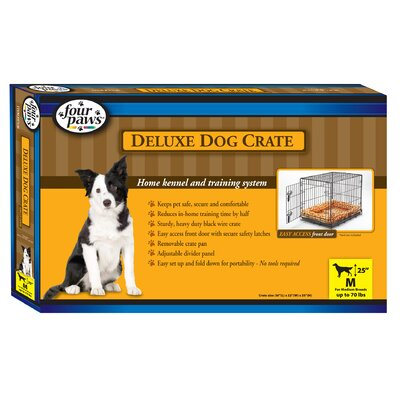 Four Paws Deluxe Folding Single Door Dog Crate