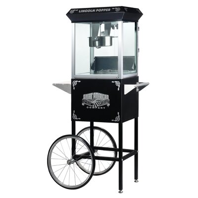 Lincoln 8 Ounce Antique Popcorn Machine with Cart