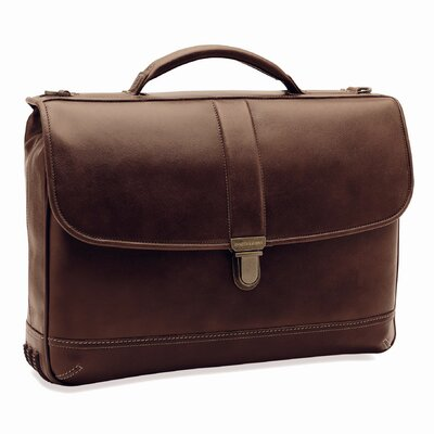 Dividends Slimline Leather Laptop Briefcase