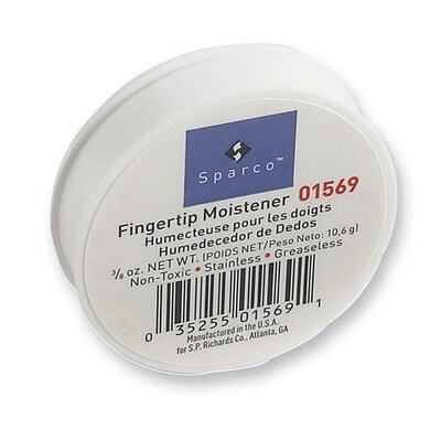 Sparco Products Fingertip Moistener, Odorless, Greaseless, Hygienic, 3/8 oz.