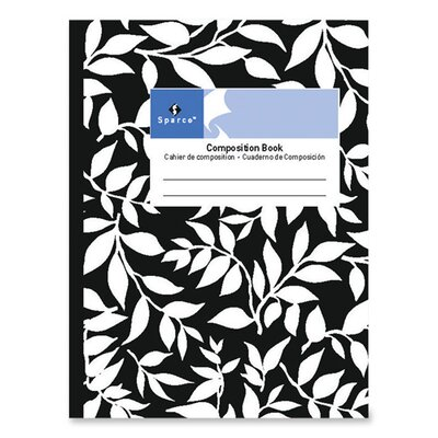 Sparco Products Sparco 80 Sheet Composition Notebook, Black