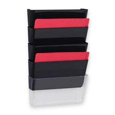 "Sparco Products Vertical File System, 13""x4""x6-3/4"", 3/PK, Smoke"
