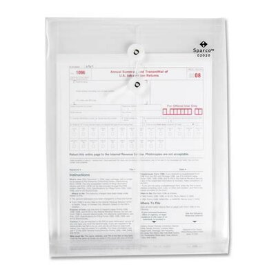 "Sparco Products Inter-Departmental Poly Envelope, Top Opening, 10""x13"", Clear"