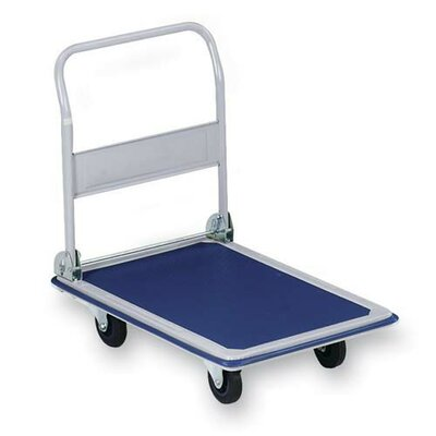 Sparco Products Folding Platform Truck, 330 lb, 18-1/8&quot;x29&quot;x29-1/2&quot;, Blue/Gray